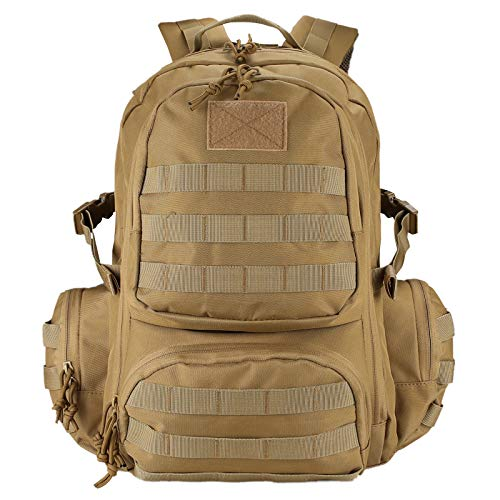 ProCase Mochila Táctica 42L 600D, Paquete de Asalto MOLLE de Gran Capacidad para Utilidad Militar, Bolsa de 3 Días para Caza Senderismo Acampada Actividad al Aire Libre –Caqui