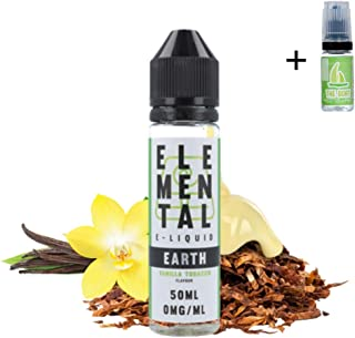 E Liquid Elemental Earth (Vanilla Tobacco) 50ml - 70vg 30pg- booster short fill