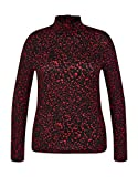 My Own by Adler Mode Shirt-Rolli mit Allover-Print Schwarz/Rot 38