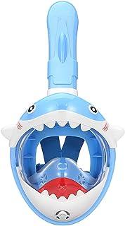 fansheng Snorkelmask för hela ansiktet för barn, andningssystem vikbar 180 graders panoramautsikt snorklingsmask