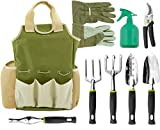 Vremi 9 Piece Garden Tools Set - Gardening Tools with Garden Gloves...