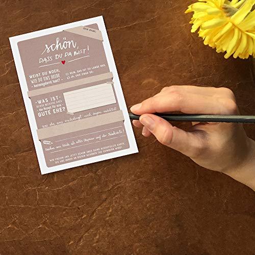 """Hochzeitsspiel """"Schön, dass du da bist""""   Postkartengruß - 2"""