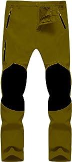 Singbring Men's Outdoor Fleece Lined Windproof Hiking Pants Waterproof Ski Pants