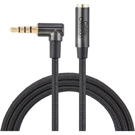 CableCreation 3.5mm Male to Female Stereo Audio Extension Cable Adapter with Gold Plated Connector 3.5mm Headphone Extension Cable 3 Feet// 0.9M