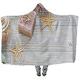 L.R.D Spa-Produkte für die Gesichts- und Körperpflege Tragbare Decke mit Kapuze, Tragbare Decke...