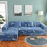 Funda de sofá nórdica, Conjunto de algodón, Funda de sofá, Funda de sofá elástica para Sala de Estar, sofá Chaise Longue en Forma de L, sofá A18 de 3 plazas