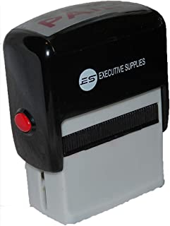 Paid Self Inking Rubber Stamp | Red Ink | for Professional and Personal Use|Fast Drying Ink| Executive Supplies