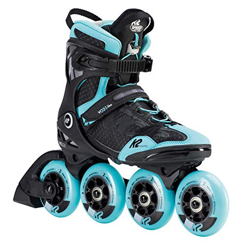 K2 Skates Damen VO2 S 90 PRO W Inline Skates, black-light blue, 38 EU (5 UK)