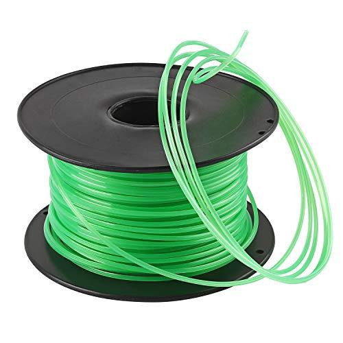 Forever Speed Hilo desbrozadora Nylon Trimmer Strimmer Line Cable String Cable para línea de Hierba 6-Borde Diámetro 3 mm x 100 Metros - Verde