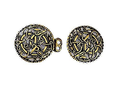 Vikingo gewandschließe Pitney latón Medieval joyas Pitney Broche