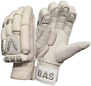 BAS Vampire White Silver Cricket Batting Gloves Men Left Hand