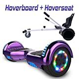 COLORWAY Hoverboard 6,5' 700W con Ruedas de Flash LED, Altavoz Bluetooth y LED, Autoequilibrio de Scooter Eléctrico