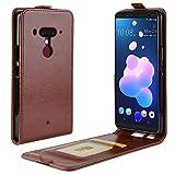 Funda® Capirotazo Billetera Funda para HTC U12 Plus (Marrón)