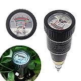 KETOTEK Bodentester pH Wert Feuchtigkeit Zifferblatt pH Messgerät Boden Erde Bodenfeuchtigkeitsmesser Wasserdicht für Garten Pflanzen Rasen