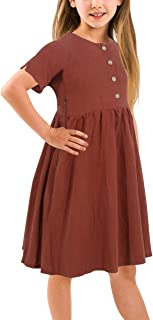 solid color knee length dresses