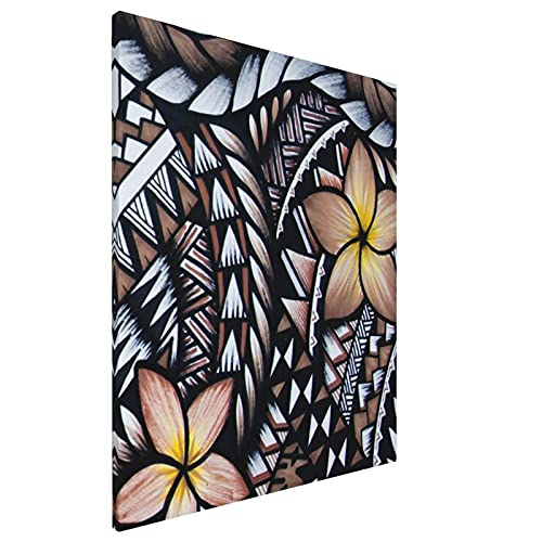 Zordalating Samoan Pattern Unframed Wall Decor Bathroom Canvas Art for Living Room Home Decorations Kitchen Posters16x20in