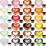 Pigmento in Polvere Metallico - 24 Colori x 5g Pigmento in Resina Epossidica Color Metallo per DIY Epoxy Resin, Pittura - Polvere Mica Scintillante Colorante per Sapone per Melma, Argilla Polimerica