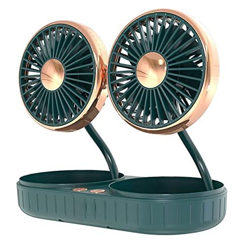 Benxin Interfaz USB de doble cabeza del coche de la manguera pequeña ventilador plegable de 360 grados de la fan giratoria de la fuente del coche