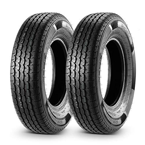 2Pcs Trailer Tire ST175/80R13 ST175 80R13 8 Ply Load Range D Radial 97/93L