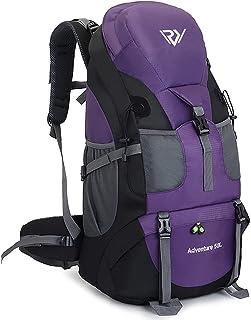 RuRu Monkey 50L Hiking Backpack , Waterproof Lightweight Daypack for Outdoor Camping Travel