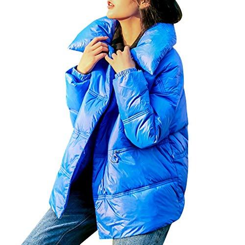 KaloryWee 2019 Herbst Winter Damen Daunenjacke Warmer Mantel Einfarbig Dicke Warme Lose Taschen Jacke Women's Coat Fashion Overcoat