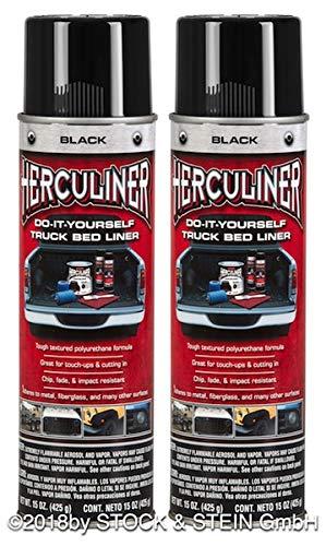 Beschichtungsfarbe 2 Spraydosen inkl. 1 Handgriff von HERCULINER in schwarz 2 x 440ml