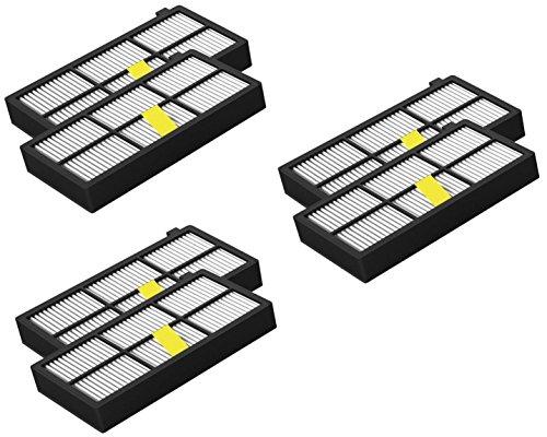 Filtro HEPA compatibile con iRobot Roomba Serie 800/900 (870, 871, 880, 890, 980), 6 confezioni