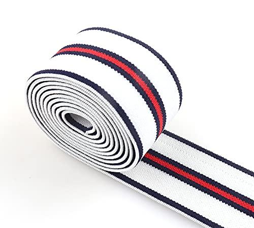 LINGP Nylon Correas elásticas Suaves Rojo Blanco Negro a Rayas 1,5'Cinta elástica Correa Banda elástica Cinturilla Costura Accesorios para Prendas de Vestir