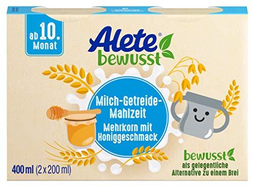 Alete bewusst Milch-Getreide-Mahlzeit Mehrkorn mit Honiggeschmack, ab dem 10. Monat, 400 ml