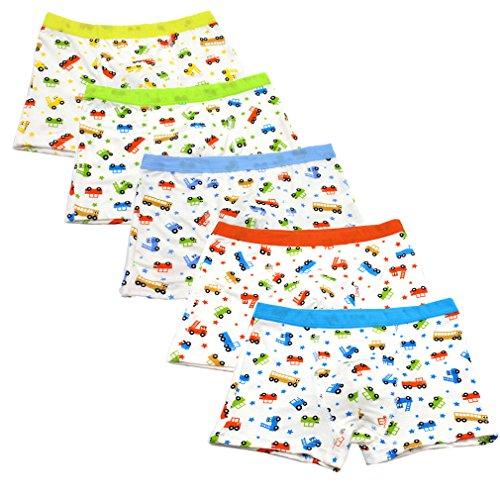 JT-Amigo 5er Pack Kinder Jungen Boxershorts Unterhosen Auto Motive, Gr. 122-134, Farbe 1