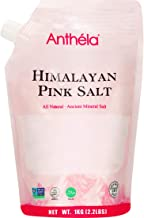 Anthéla Himalayan Pink Salt, Premium Organic Gourmet 100% Pure Ancient Mineral Sea Salt. Natural and Amazing Flavor. Non-GMO, Kosher, Halal, Sedex Certified. Extra Fine Grain Refill bag 2.2lbs