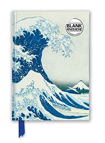 Premium Notizbuch Blank DIN A5: Katsushika Hokusai, Die große Welle: Unser hochwertiges Blankbook mit festem, künstlerisch geprägtem Einband (Premium Notizbuch DIN A 5 mit Magnetverschluss)