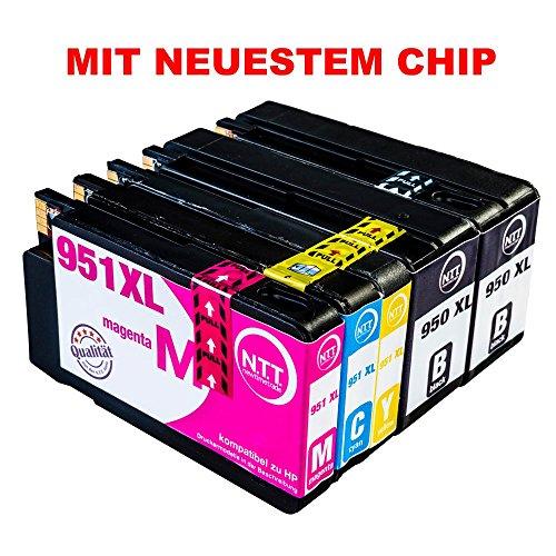 NTT 5 XXL kompatible Druckerpatronen als Ersatz für HP950 XL HP 950 HP-950 HP951-XL HP 951 HP-951(2x Schwarz, 1x Cyan, 1x Magenta, 1x Yellow)