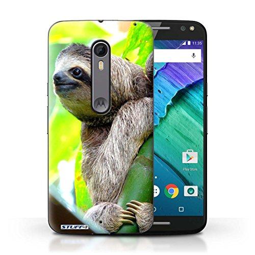 Hülle Für Motorola Moto X Pure Edition Wilde Tiere Faultier Design Transparent Ultra Dünn Klar Hart Schutz Handyhülle Case