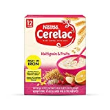 Nestlé CERELAC Fortified Baby Cereal with Milk, Multigrain & Fruits – From 12 Months, 300g BIB...