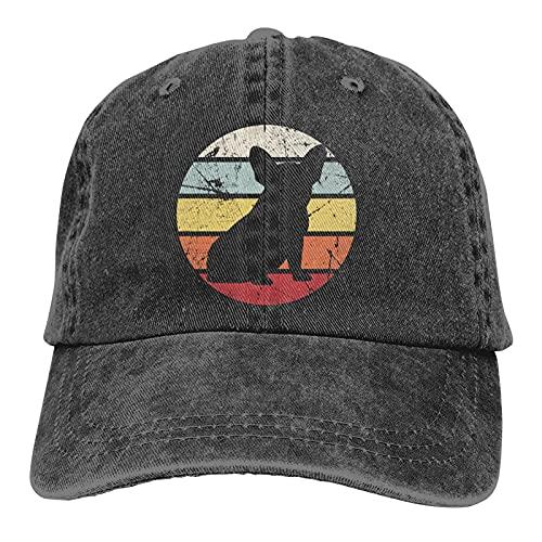 Vintage French Bulldog Baseball Cap, Adjustable Size Dad Hat, Vintage Baseball Hats for Men Woman