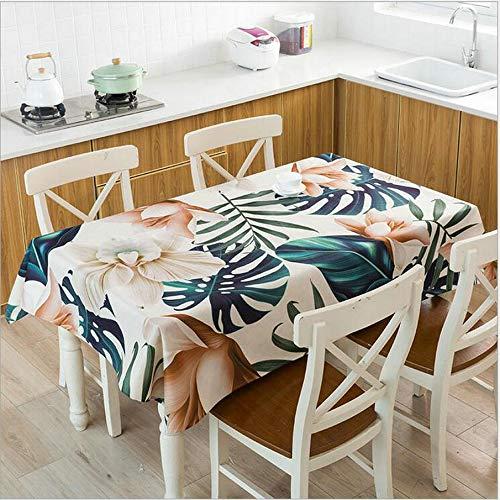 XXDD Mantel Impermeable con Estampado de Venas de Hoja roja, Mantel de Lino para Cocina, Mesa de Comedor, decoración del hogar, Mantel A14 140x180cm