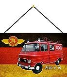 NWFS Freiwilliges Feuerwehr ZUK A15 DDR Blechschild Metallschild Schild Metal Tin Sign gewölbt lackiert 20 x 30 mit Kordel