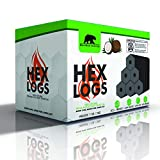 BlackBear HEX LOGS - Eco-Friendly Coconut Charcoal Briquettes 11 lbs.