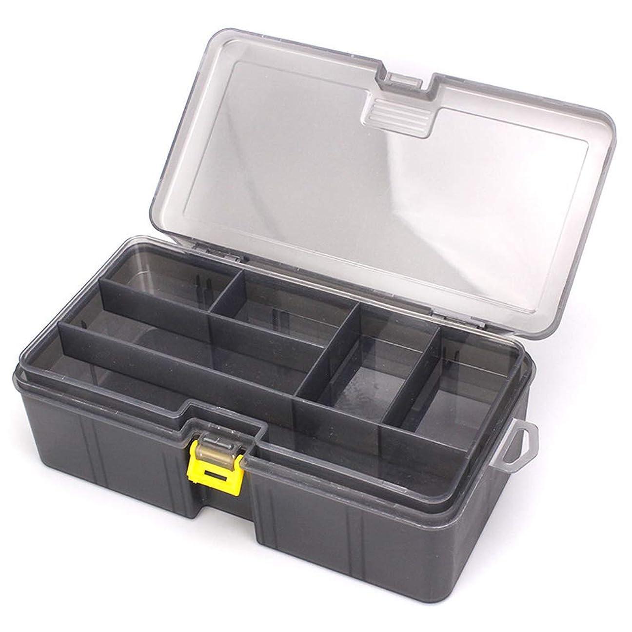 優勢クック料理THIBETA 太い2層ロードサブボックス ポリプロピレン素材 ルアーアクセサリー ツールボックス プラスチックボックス 釣り用品
