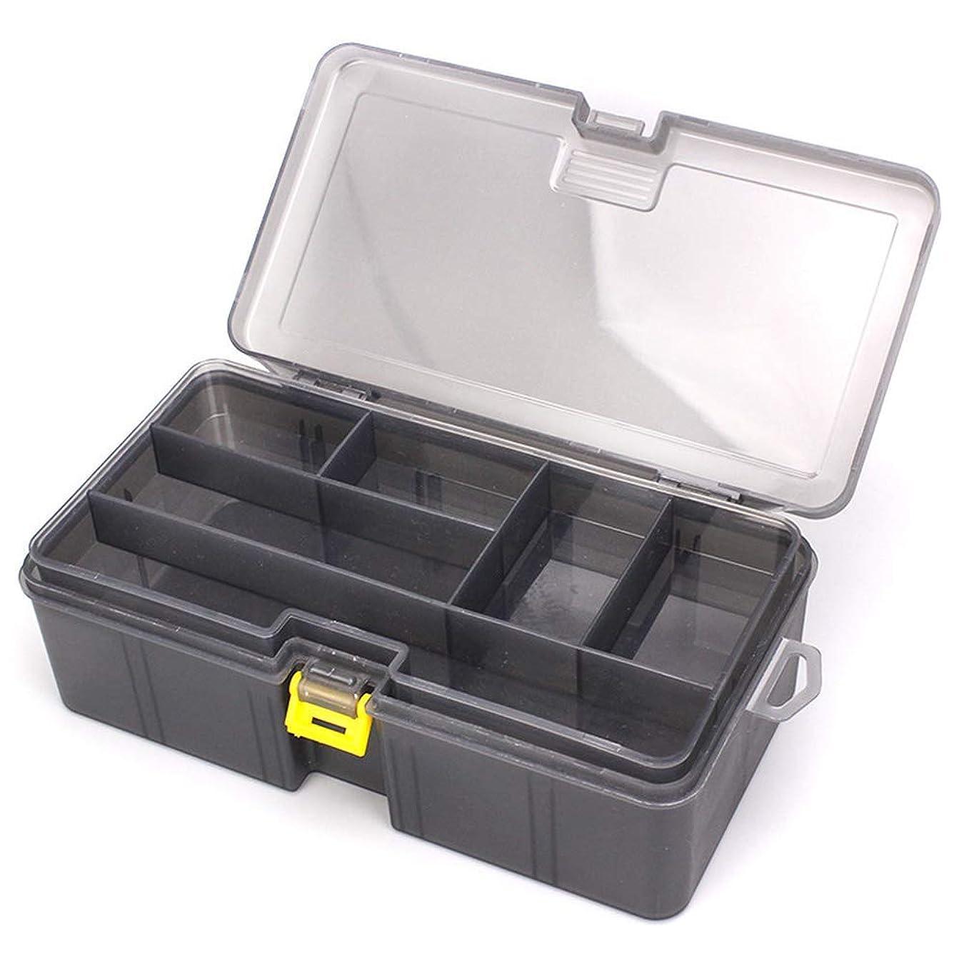 残る上向き正義THIBETA 太い2層ロードサブボックス ポリプロピレン素材 ルアーアクセサリー ツールボックス プラスチックボックス 釣り用品