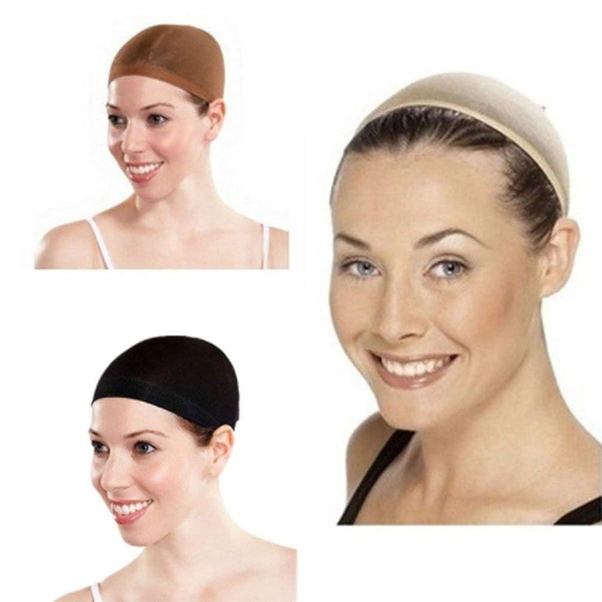 命題露出度の高いセンブランス伸縮性のあるかつらヘアコントロールネットキャップメッシュストッキングファンシーパーティー衣装ドレス通気性のあるヘアネット - 黒