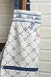 Maison d' Hermine Faïence 100% Baumwolle 1-teilige Küchenschürze mit verstellbarem Hals und versteckter Mitteltasche, Langen Krawatten für Frauen/Männer | Küchenchef | Kochen(70cm x 85cm) - 7