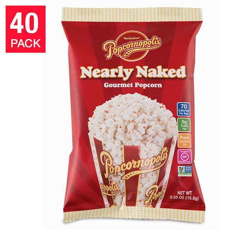 Learn More About Evaxo Nearly Naked Popcorn 0.55 oz, 40-pack
