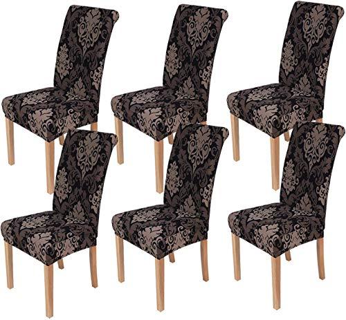 Homaxy Universal Stretch Stuhlhussen 2er 4er 6er Set Stuhlbezug für Stuhl Esszimmer (6er Set, Style 10)