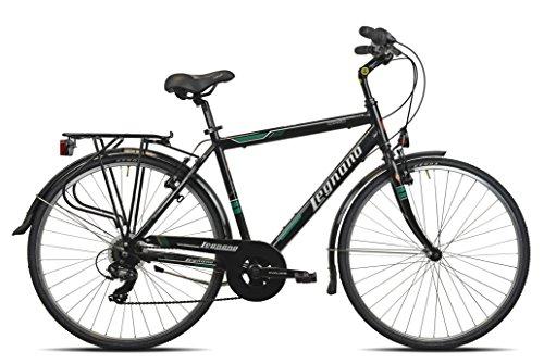 Legnano Ciclo 445 Cesenatico, City Bike Uomo, Nero, 52