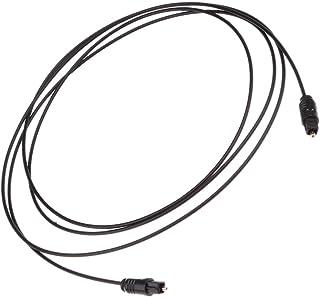 OD2.2 デジタル 光ファイバー オーディオ VCR CD DVD TosLinkケーブル ブラック 多サイズ選ぶ - 1.5m