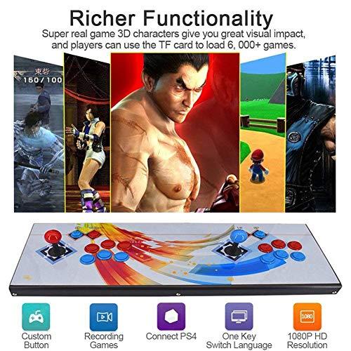 ZQYR GAME# Console de Jeux vidéo 3D Console de Jeux 2350 Jeu rétro 1080P Machine d'arcade rétro CPU avancé Boutons personnalisés Liste Intelligente (Model: BZ-2270)