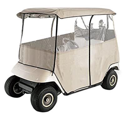 Leader Accessories Golf Cart Storage Cover Deluxe Driving Enclosure Fit EZ Go, Club Car, Yamaha Cart (2-Person)