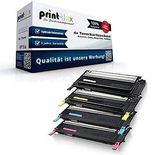 Marke Print-Klex - kompatibles XXL Tonerkartuschen Set für Samsung CLP320 CLP320N CLP320W CLP325 CLP325N CLP325W CLX3185 CLX3185N CLX3185FN CLX3185FW - Toner Set